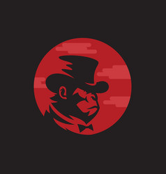 monkey logo design vector image
