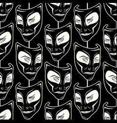 new pattern 0212 theatrical mask vector image