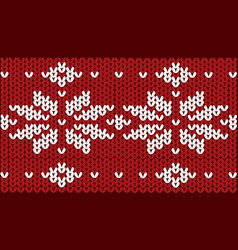 nordic knitted pattern on wool vector image