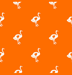 ostrich pattern seamless vector image