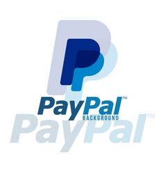 Paypal logo background image vector