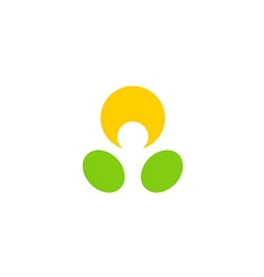 people abstract dot happy logo vector image