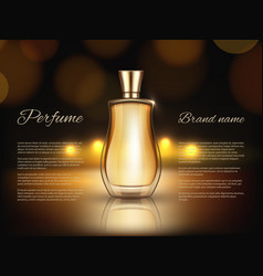 perfumes advertizing realistic of vector image