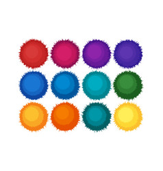 Pompon or furry balls icon vector