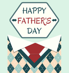 poster happy father day vector image