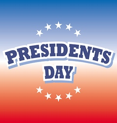 Presidents Day USA banner on red and blue vector