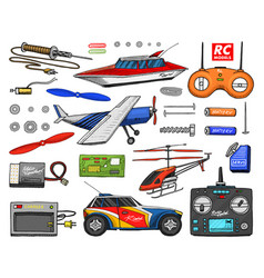 Rc transport remote control models toys or vector