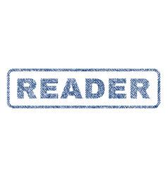 Reader textile stamp vector