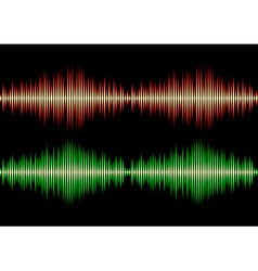 Seamless music wave pattern vector