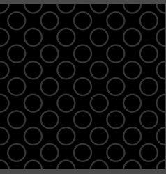 seamless pattern with grey polka dots on black vector image