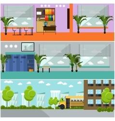 set of school concept banners Interior vector image