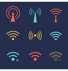 Set wi fi icons for business or commercial use vector