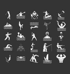 sportsman icon set grey vector image