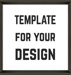 square blank framed poster template vector image