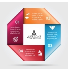 Square element for infographic vector