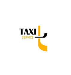 Taxi service emblem of transportation company vector
