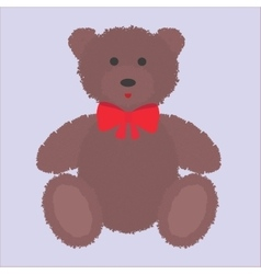 Teddy bear with brown fur vector image