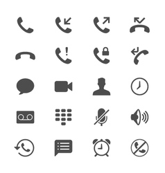 Telephone flat icons vector image