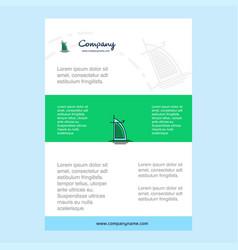 Template layout for dubai hotel company profile vector