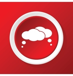 Thought clouds icon on red vector