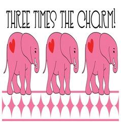 Three Times vector image