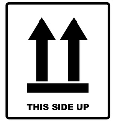 Top side This side up symbol Icon of Side Up vector