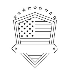 United states america emblematic shield vector