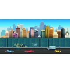 urban buildings seamless vector image