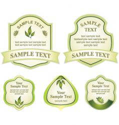Various labels graphic vector