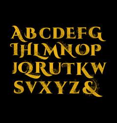 vintage flower alphabet vector image