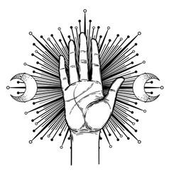 Vintage hands hand drawn sketchy vector