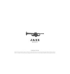 vintage rustic retro trumpet for jazz music vector image