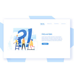 Web banner template with giant question mark vector