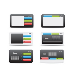 web business card set 05 vector image