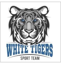 White tiger head vector