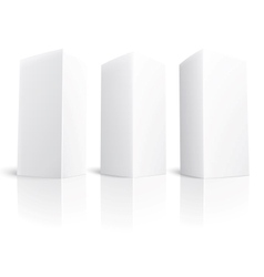 Blank paper vertical triangle cards vector image vector image