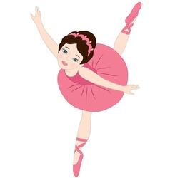 Brunette Ballerina vector image vector image
