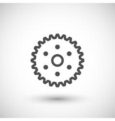 Cogwheel line icon vector image