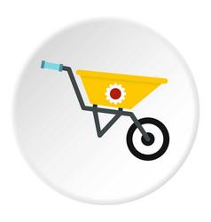 garden wheelbarrow icon circle vector image vector image