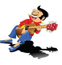 Guitar busker vector image