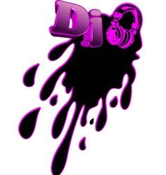 music dj splash vector image