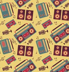 Retro music pattern vector