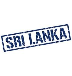 Sri lanka blue square stamp vector
