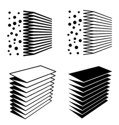 air filter effect black symbol vector image vector image