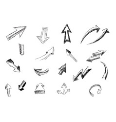 Arrows isolated on the white vector