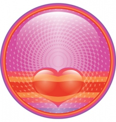 heart internet button vector image vector image