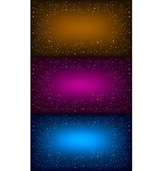 Space background set vector image