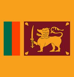 sri lanka flag flat style vector image