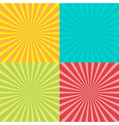 Sunburst set with ray of light Template abstract vector image