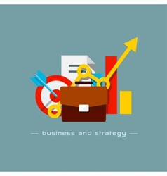 Business and strategy flat concept vector image
